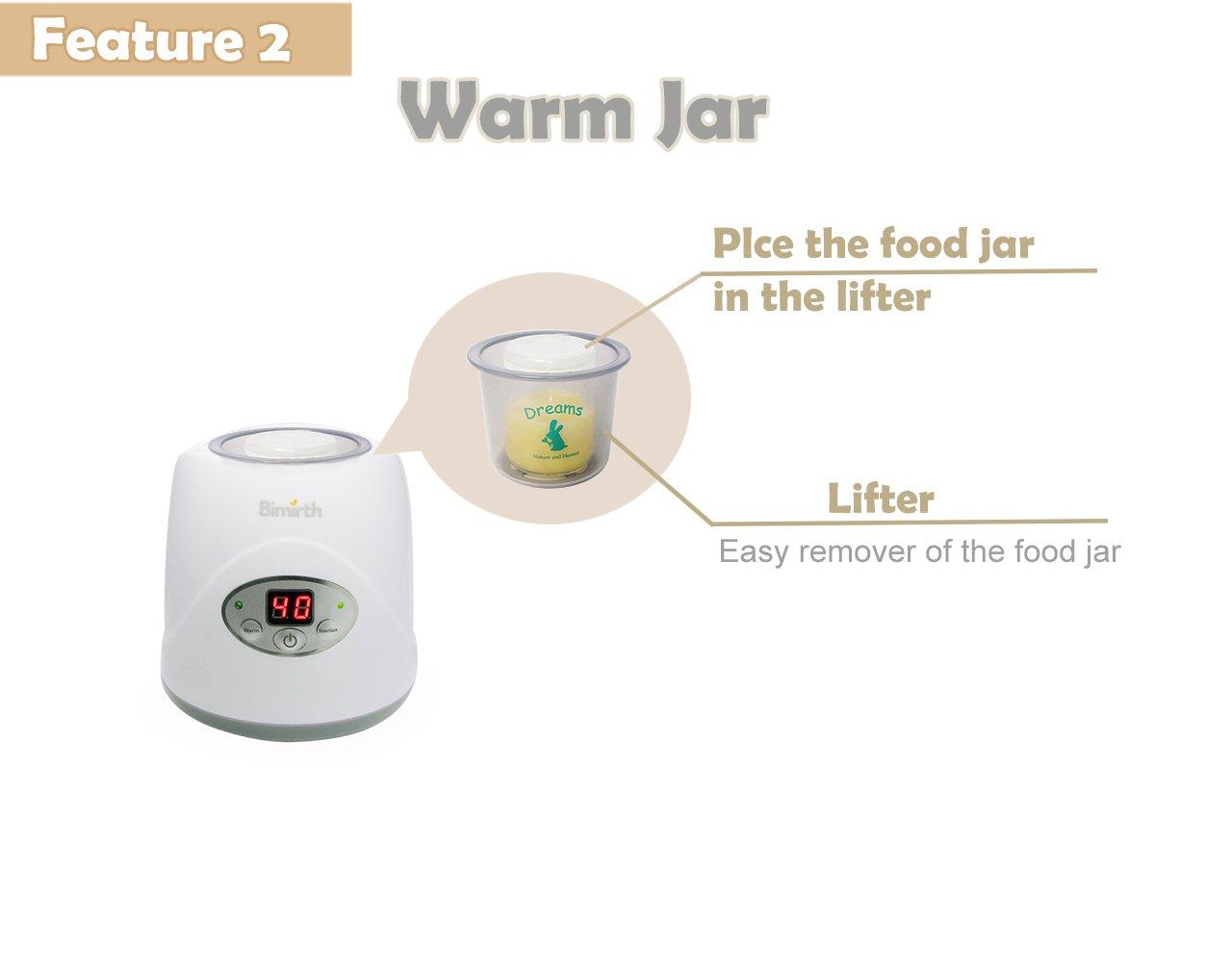 HopeU5 Calentador de biberones eléctrico individual, 5 en 1 ...