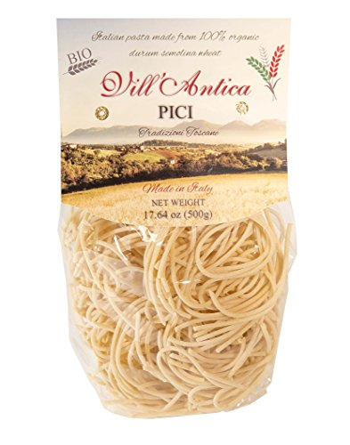 New Organic Italian Pici Pasta, Bundle - 2 packs x 17.5 oz BUY 2 and SAVE