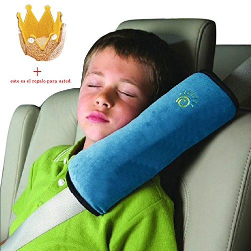Chezaa Car Seat Belts Pillow,Baby Children Safety Strap Shoulder Protection Car Seat Belts Pillow for Cars (Blue)