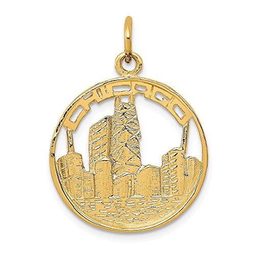 Mia Diamonds 14k Yellow Gold Chicago Skyline