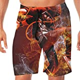 Men's Swim Trunks Hip Hop Dance Quick Dry Beachwear Sports Running Summer Beach Board Shorts Vacation Surfing Bathing Suit
