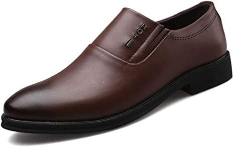 Mens Oxford Loafer Dress Shoes Pointed