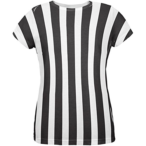 Referee Costume T-shirts (Halloween Referee Costume All Over Womens T Shirt Multi)
