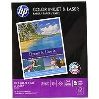 Papel para Impresora HP, ColorPrinting24, 8.5 x 11, Carta, 24 lb, 97 Brillante, 400 Hojas /1 Resma (202040R) Hecho en los EE. UU. (El embalaje puede variar)