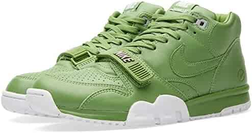 competitive price bfed7 428e3 Nike Mens Air Trainer 1 Mid SP Fragment Chlorophyll Green White Leather