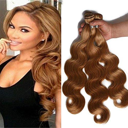 FABA Beauty 9A Grade Human Virgin Hair Bundle Deals Pure 27# Color Body Wave Hair 3 bundles Honey Blonde Body Wavy Hair About 300g 8-30 inch Mixed Length (20.22.22)