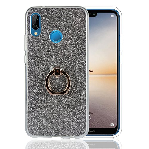 Funda® Ring Brackets Case for Huawei Nova 3E/Huawei P20 Lite(Black)