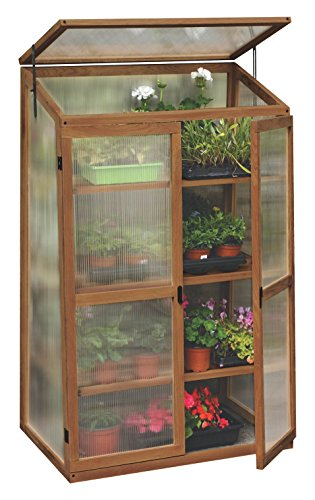 Tierra Garden 50-3300 Haxnicks Plant House Hardwood Greenhouse - Polycarbonate Greenhouse Glazing