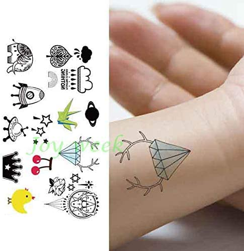 ljmljm 5pcs Tatuaje Impermeable Etiqueta engomada del Globo del ...