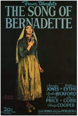 Amazon.com: The Song of Bernadette Movie Poster (27 x 40 Inches - 69cm x  102cm) (1943) -(Jennifer Jones)(William Eythe)(Charles Bickford)(Vincent  Price)(Lee J. Cobb)(Gladys Cooper): Prints: Posters & Prints