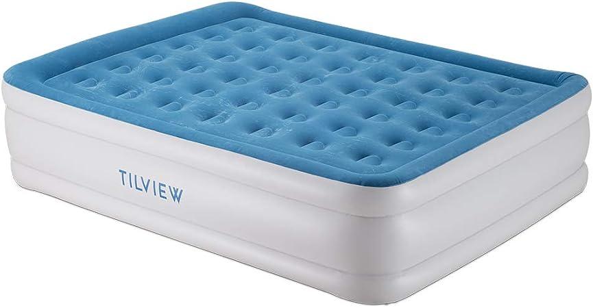 Amazon.com: TILVIEW - Colchón de aire de tamaño queen, cama ...