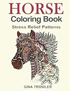 Horse Coloring Book For Adults: An Adult Coloring Book of 40 Horses ...