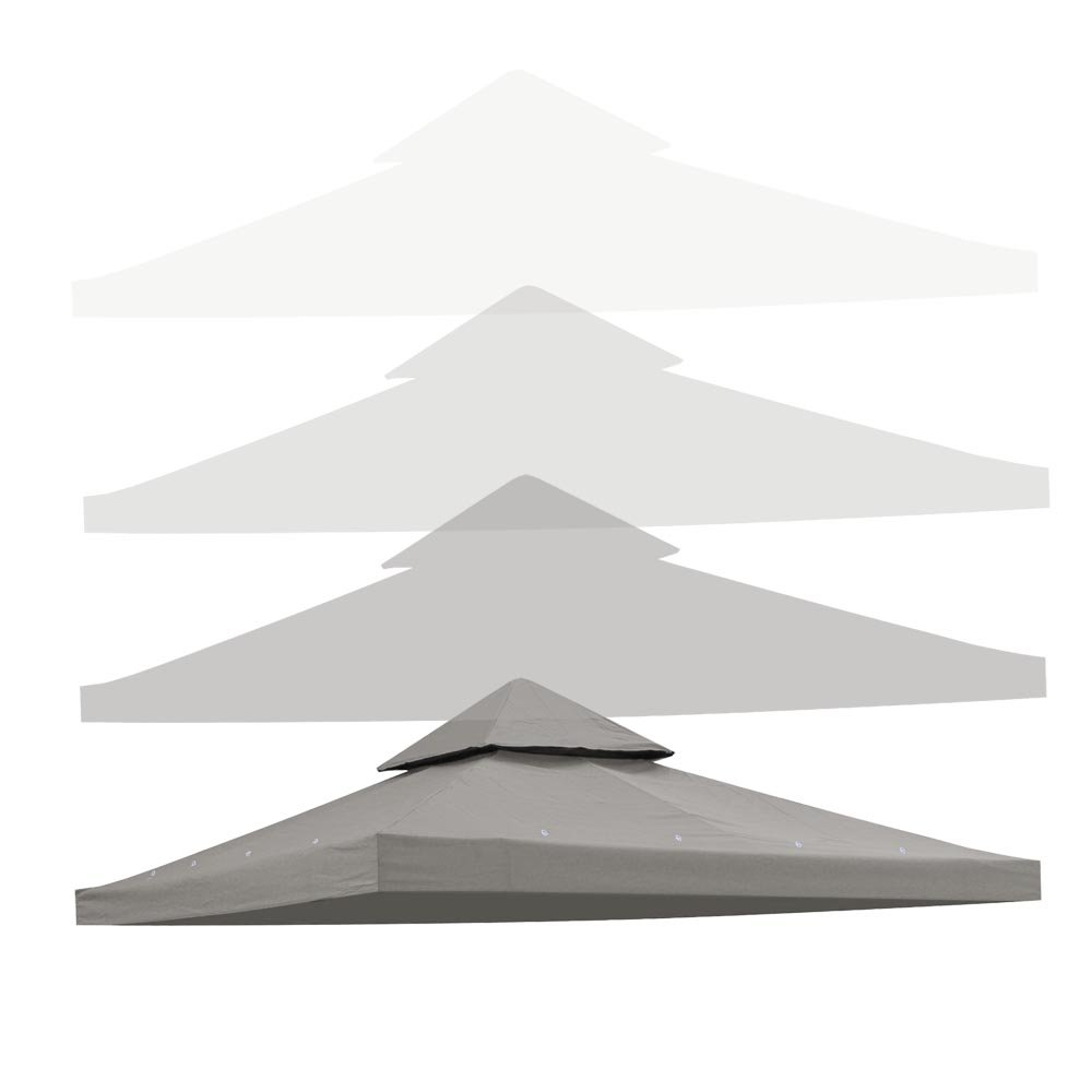 Yescom 10'x10' 2-Tier Waterproof Gazebo Top Replacement UV30+ 200g/sqm Outdoor Patio Canopy Cover by Yescom (Image #2)