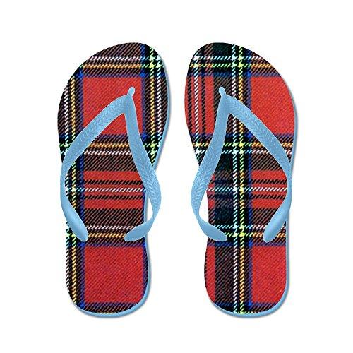 CafePress Royal Stewart Tartan - Flip Flops, Funny Thong Sandals, Beach Sandals Caribbean Blue
