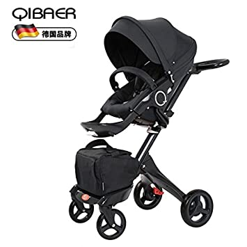 Amazon.com: qibaer babystroller alta Vista Lujo Negro para ...
