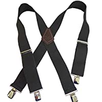 "Holdup Contractor Series 2"" X-back Work Suspenders with Patented No-slip® Clips"