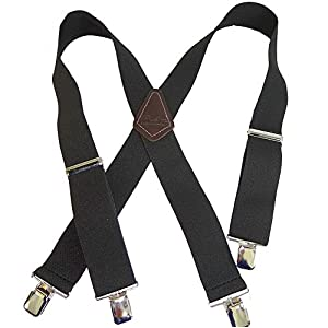 Holdup Contractor Series 2″ X-back Work Suspenders with Patented No-slip® Clips