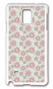 MOKSHOP Adorable Dreaming Flowers Hard Case Protective Shell Cell Phone Cover For Samsung Galaxy Note 4 - PC White Kimberly Kurzendoerfer