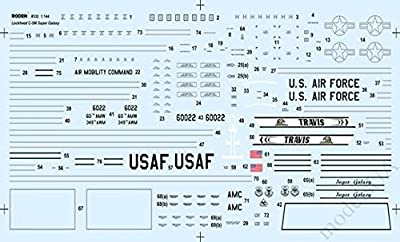 Roden 332 Lockheed C-5m Super Galaxy U.s. Air Force Transport Aircraft 1/144