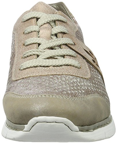 Rieker M5225, Sneakers Basses Femme Multicolore (Altgold/Rose/Rose / 90)