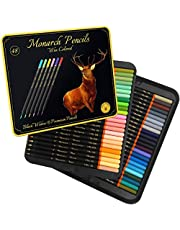 Black Widow Monarch Colored Pencils for Adults - 48 Coloring Pencils with Smooth Pigments - Best Color Pencil Set for Adult Coloring Books and Drawing.