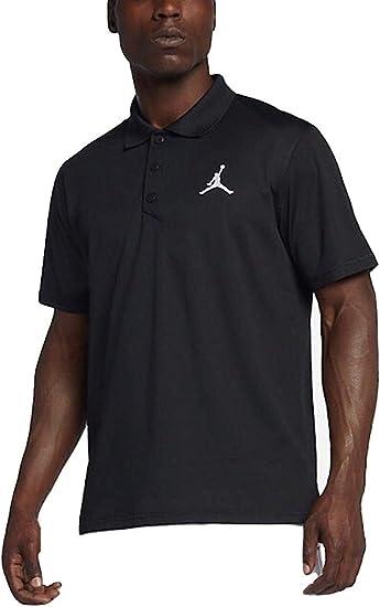 Jordan Mens Nike Team Golf Coach Polo Shirt (Black, X-Small ...