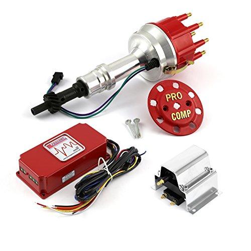 Box Billet Pro Distributors Msd - Procomp Electronics PCE385.1156 Ford 289 302 Windsor 8400 Pro Billet Distributor 6AL CDI Ignition Box & Coil Kit