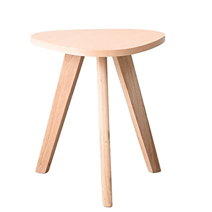Amazon.com: Coffee Tables Small-Sized Wooden Round Small ...