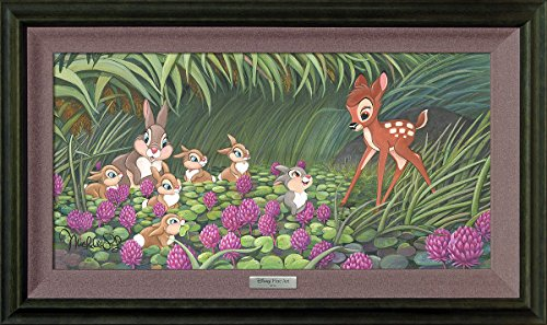 Saying Hello To Thumper by Michelle St Laurent - Disney Fine Art Silver Series Framed Giclee ()