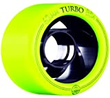Rollerbones Turbo Yellow Quad Roller Derby Skate Wheels 8 Pack (85A)