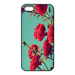 Best-Diy Personalized Red Rose Iphone 5,5S case cover, Red Rose Customized case cover for iPhone 5,iPhone 5s at Lzzcase JtoalKJW1K3