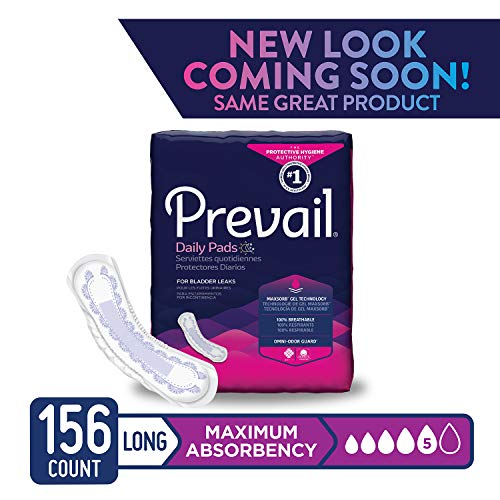 Prevail Pull (Prevail Maximum Absorbency Incontinence Bladder Control Pads Maximum Long 156 Total Count Rapid Absorption Discreet Comfort Fit Overnight Incontinence Pads for Women)