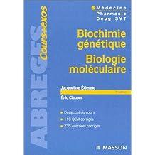 Biochimie génétique , biologie moléculaire