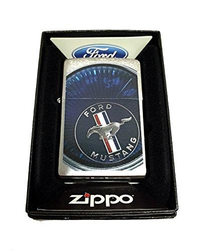 Zippo Custom Lighter - Ford Mustang Spedometer - Regular Brush Finish Chrome (Zippo Car)
