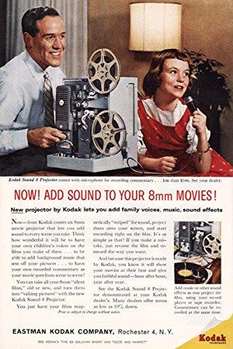 Kodak Sound 8mm Projector - Vintage Ad - 1960's # 253