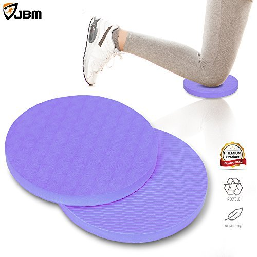 Cheap JBM Yoga Knee Pad 5 Colors 8mm Thick Round Eco TPE Yoga Pad Comfort Yoga Pilates Workout Knee Pad Cushion Yoga Pad Support Pain Relief for Hands Wrists Knees Elbows Shoulders Back (Purple)
