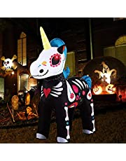 LUVSHINE Eenhoorn springkasteel, eenhoorndecoratie voor eenhoornfeest, halloweendecoratie, tuindecoratie