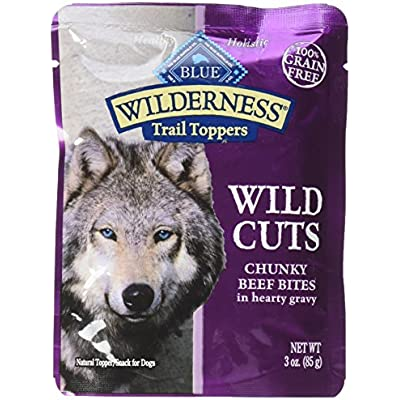 Blue Buffalo Wilderness Wild Cuts Trail Toppers Chunky Bites In Hearty Gravy - Beef -  3 Oz