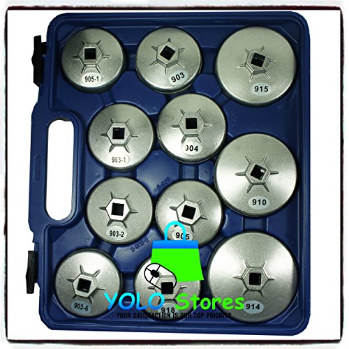 Oil Filter Tool Kit Removal Wrench Cap Car Garage Set Loosen Tighten Cup Socket Truck 23PC By YOLO Stores by YOLO Stores (Image #6)