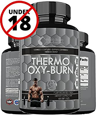 * EXTREME HYPER THERMO OXY BURN * For Men & Women - Advanced Tri Phase Fat Busting Pills – Weight Loss Made Easy – Thermogenic & Lipogenic Blend – Added Raspberry Ketones & Green Tea Extract