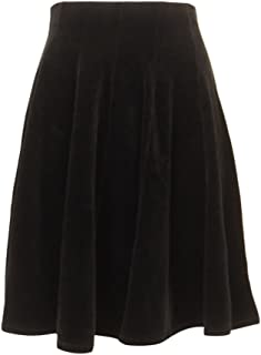 product image for Hard Tail Forever Knee Length Black Velour Flap N Wind Skirt Style V-158