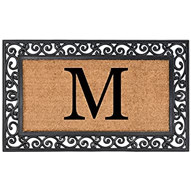 Nance Industries NC-1972-0155 Yourown Monogrammed Rubber Welcome Mat, 24  x 39