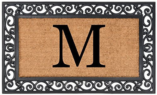 "Nance Industries YourOwn Monogrammed Rubber Welcome Mat, 24"" x 39"""