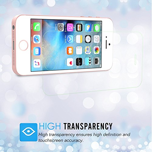 "MoKo Folie für iPhone SE / 5S Folie - HD 9H Panzerglas Hartglas Glas Display Schutzfolie Displayschutzfolie Displayschutz Glass Screen Protector für Apple iPhone 5S Smartphone 4"" Retina-Touchscreen, K"