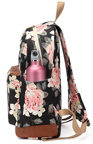 Kenox Girl's School Rucksack College Bookbag Lady Travel Backpack 14Inch Laptop Bag (Floral) by Kenox (Image #3)