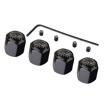 4 unidades Tapones de válvula universal oz Racing Patrón anti robo Rueda neumático válvula tapas cubierta