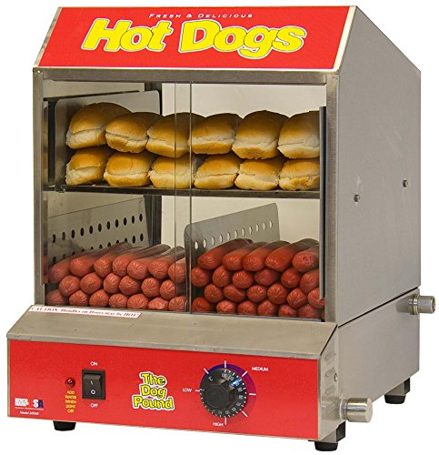 benchmark 60048 dogpound hotdog steamer 120v 1170w 9 8a industrial supply. Black Bedroom Furniture Sets. Home Design Ideas