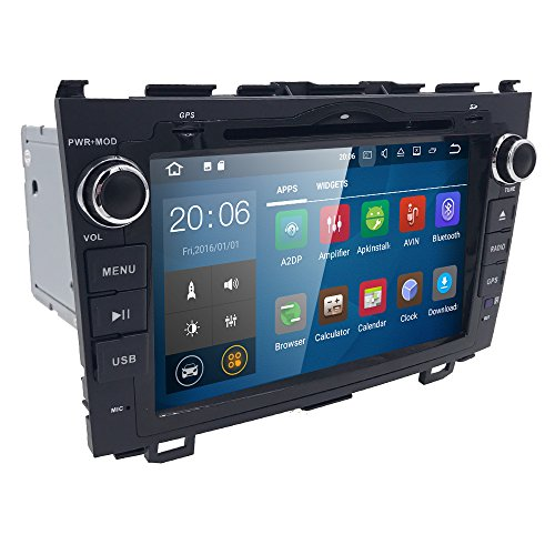 Android 7.1 OS Quad Core 8 inch 1024600 HD Touchscreen for Honda CRV CR-V 2006 2007 2008 2009 2010 2011 in Dash Car Stereo Kit DVD Player GPS Navigation Support Radio/DVR/OBD/TV/1080P