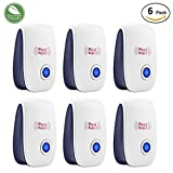 Pest Control Ultrasonic Repellent - Set of 6 Electronic Plug-in Repeller for Insects & Rodents with Night Light- Repellent for Mosquitoes, Cockroaches, Ants, Rodents, Flies, Bugs, Spiders, Mice