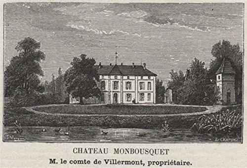 - ST-ÉMILION ST-SULPICE-DE-FALEYRENS Chateau Monbousquet SMALL - 1908 - old print - antique print - vintage print - Gironde art prints